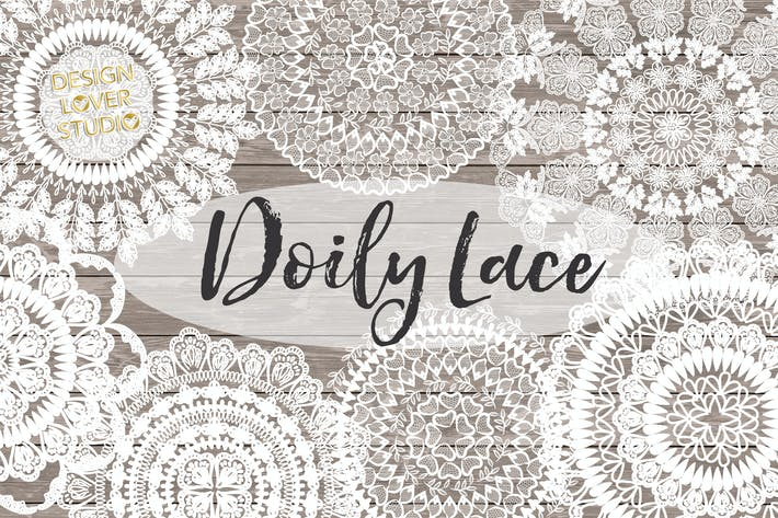 Cover Image For Vector Rustic Doily lace