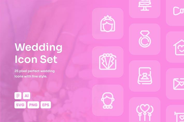 Wedding Dashed Line Icon