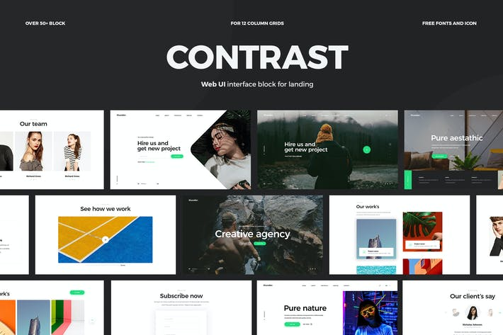 Thumbnail for Contrast - Web Ui kit