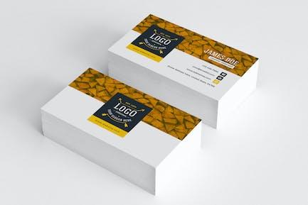 Business Card Template Retro 03