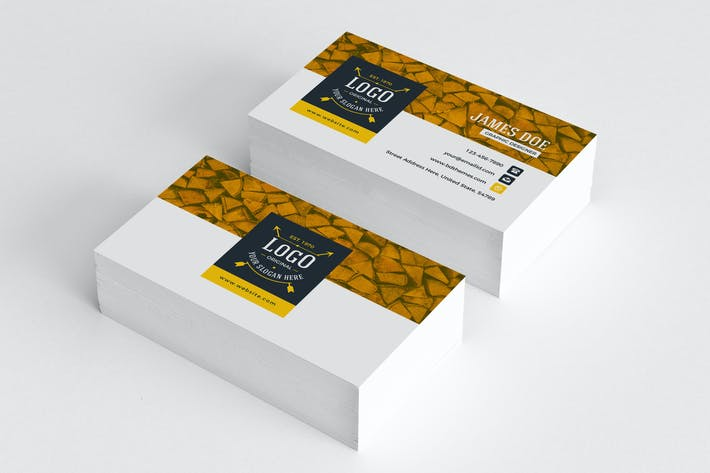 Thumbnail for Business Card Template Retro 03