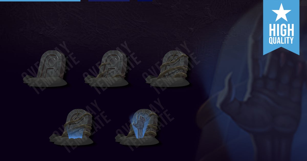 Download Sub Badges Living Dead for Twitch by overlaytemplate