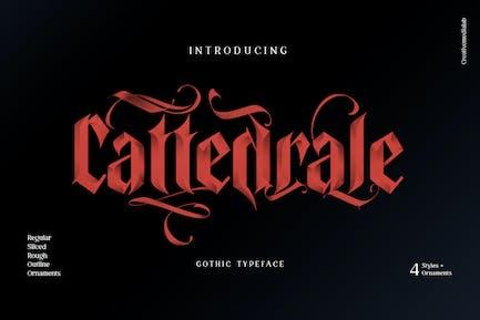 Cattedrale - Letra negra gótica
