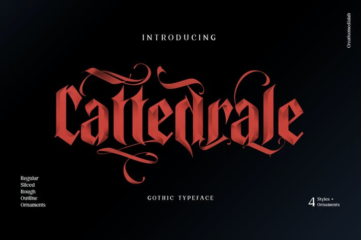 Thumbnail for Cattedrale - Gothic Blackletter