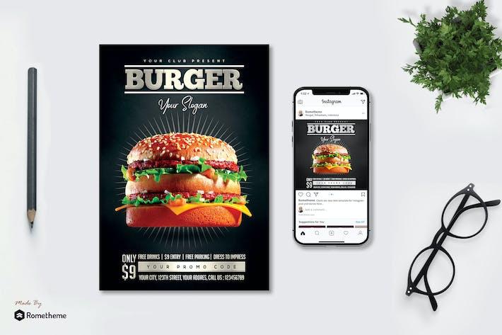 Thumbnail for Burger - Flyer & Instagram Post MR