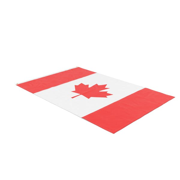 Flag Laying Pose Canada