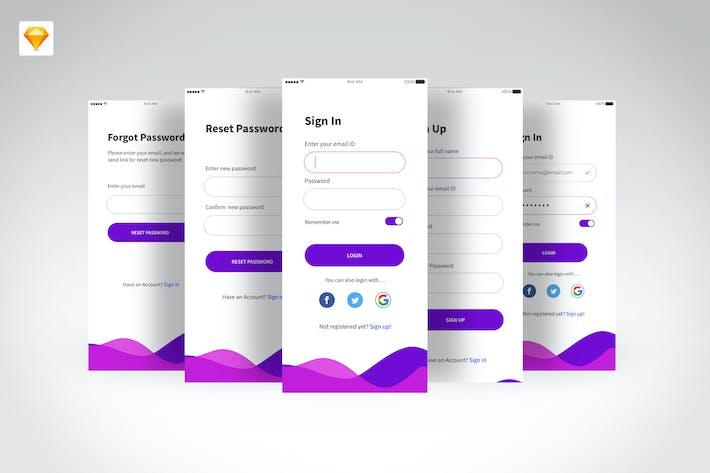 Thumbnail for Login & Sign Up UI Kits