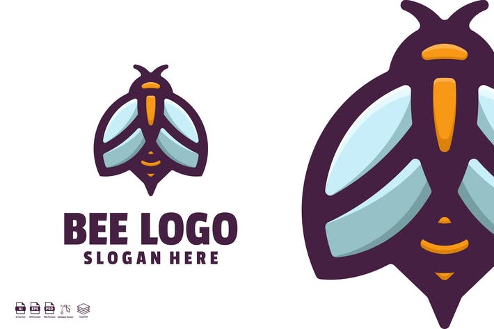 Thumbnail for Bee logo template