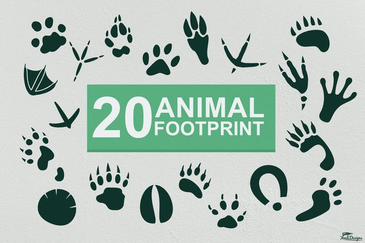 Thumbnail for Animal Footprints Vector