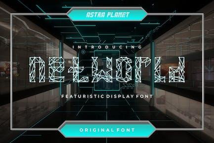 Networld - Police d'affichage futuriste