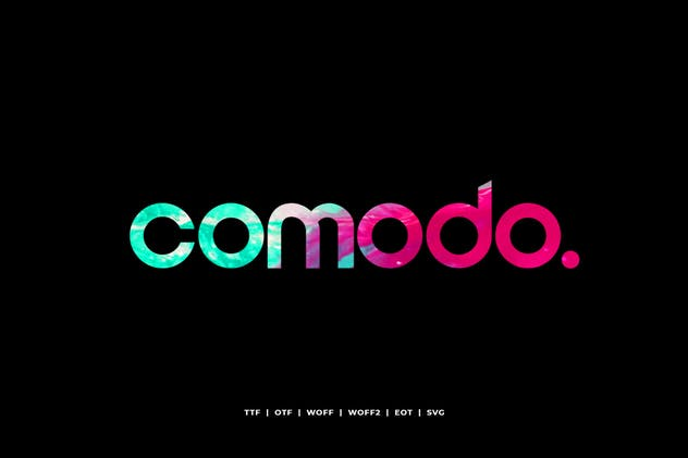 Comodo - Display Typeface + WebFonts - product preview 0