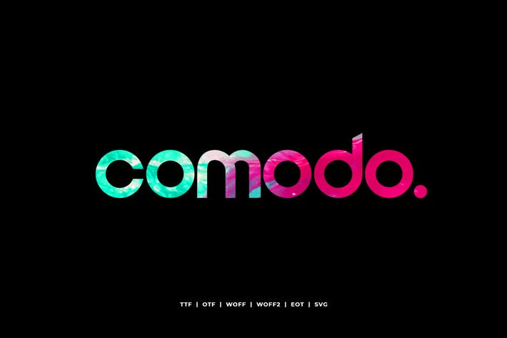 Thumbnail for Comodo - Display Typeface + WebFonts