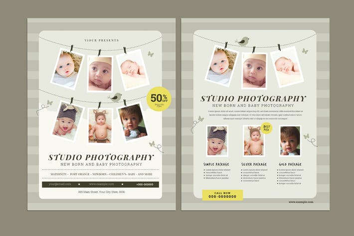 Thumbnail for Newborn Fotografie Flyer