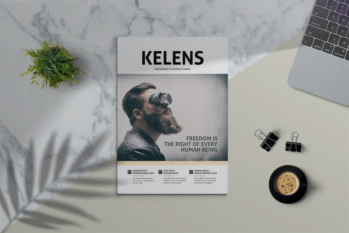 Thumbnail for KELENS - Clean Magazine Template