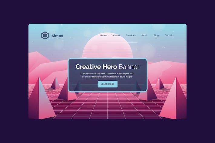 Thumbnail for Simox - Hero Banner Template