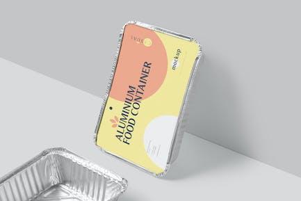 Aluminium-Nahrungsmittelbehälter-Mock-ups