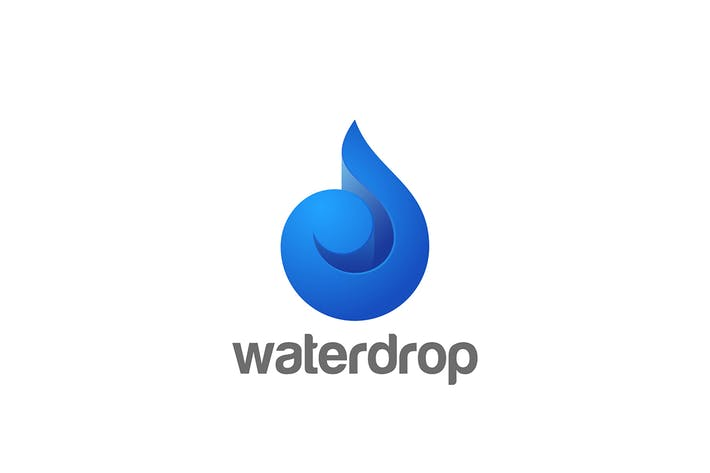 Thumbnail for Logo Water Droplet Drop Waterdrop Oil Swirl Wave