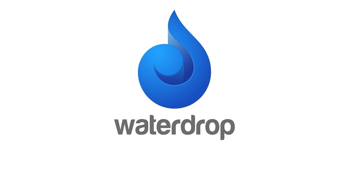 Download Logo Water Droplet Drop Waterdrop Oil Swirl Wave by Sentavio