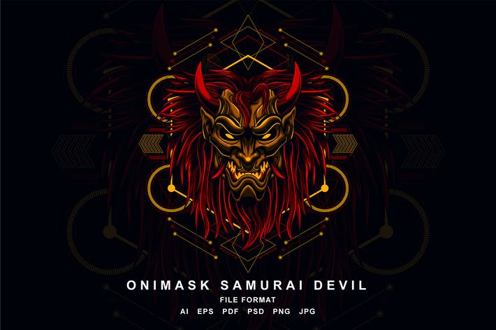 Thumbnail for Onimask Samurai Devil
