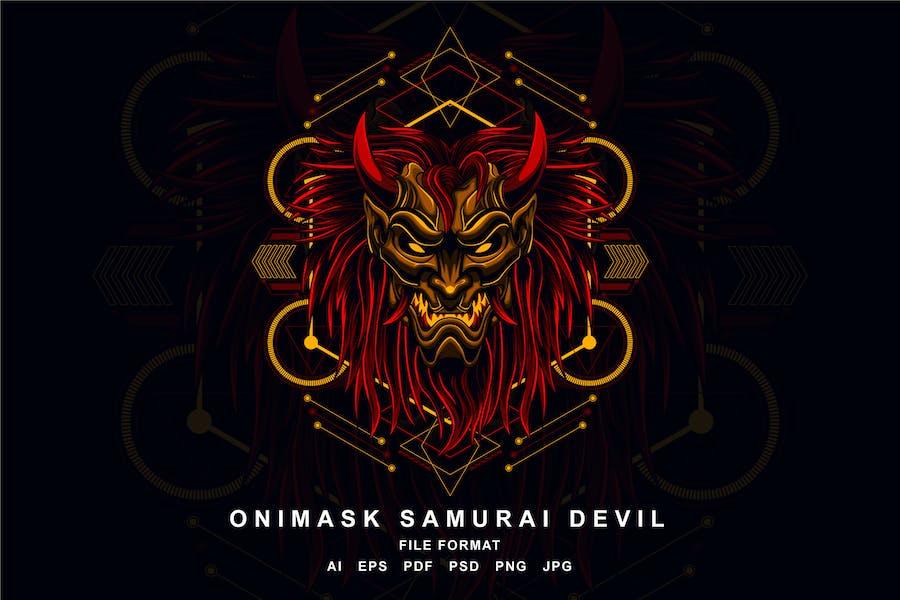 Onimask Samurai Devil