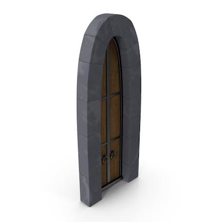 Stylized Old Castle Door