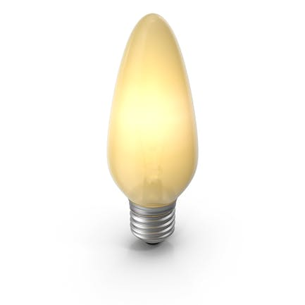 Pointy Glühbirne eingeschaltet