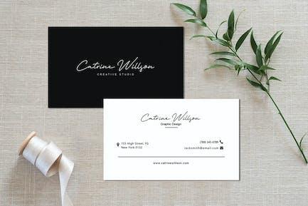 Simple Monochrome Business Card