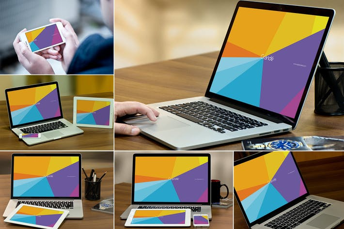 Thumbnail for Mockups de MacBook