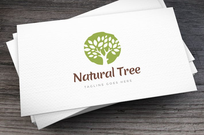 Thumbnail for Natural Tree Logo Template