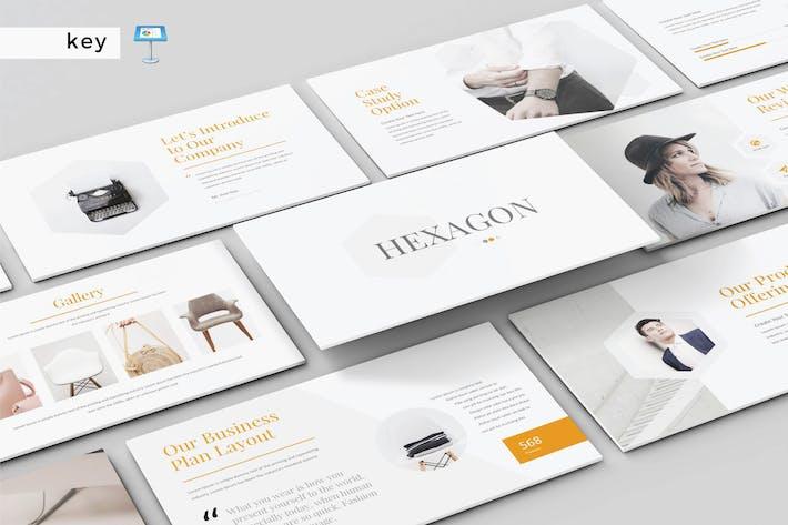 Thumbnail for HEXAGON - Multipurpose Keynote Template V164