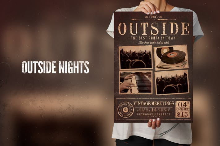 Thumbnail for Outside Flyer Poster