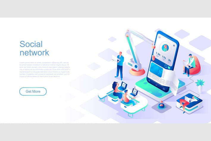 Thumbnail for Social Network Isometric Flat Concept Header