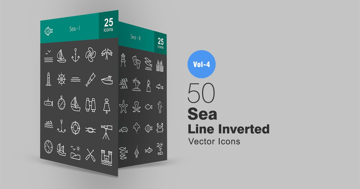 Download 50 Sea Line Inverted Icons by IconBunny