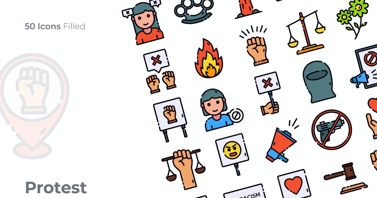 Download Protest Filled Icon by GoodWare_Std