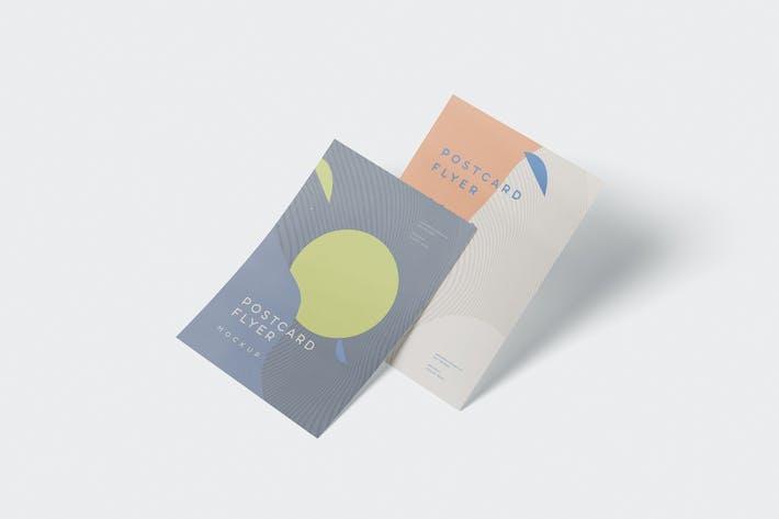 Thumbnail for A6 Postkarte - Flyer Mockup Set