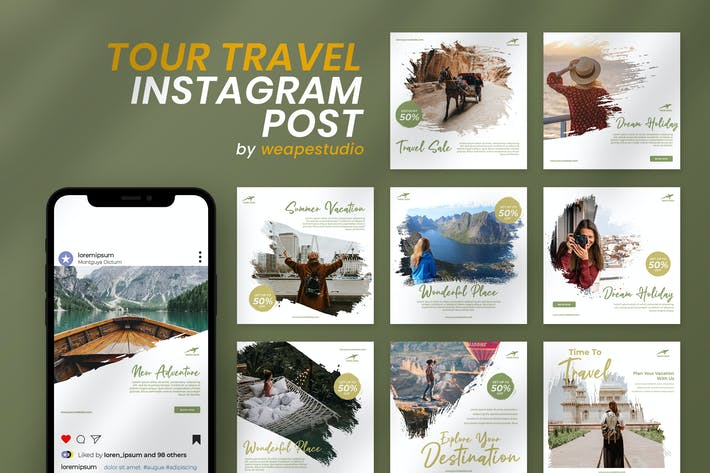Thumbnail for Tour Travel Instagram Template