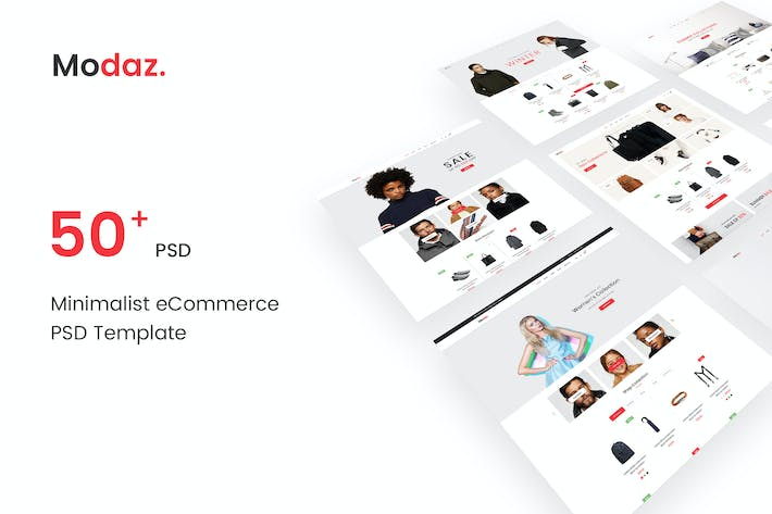 Thumbnail for Modaz | Minimalist eCommerce PSD Template