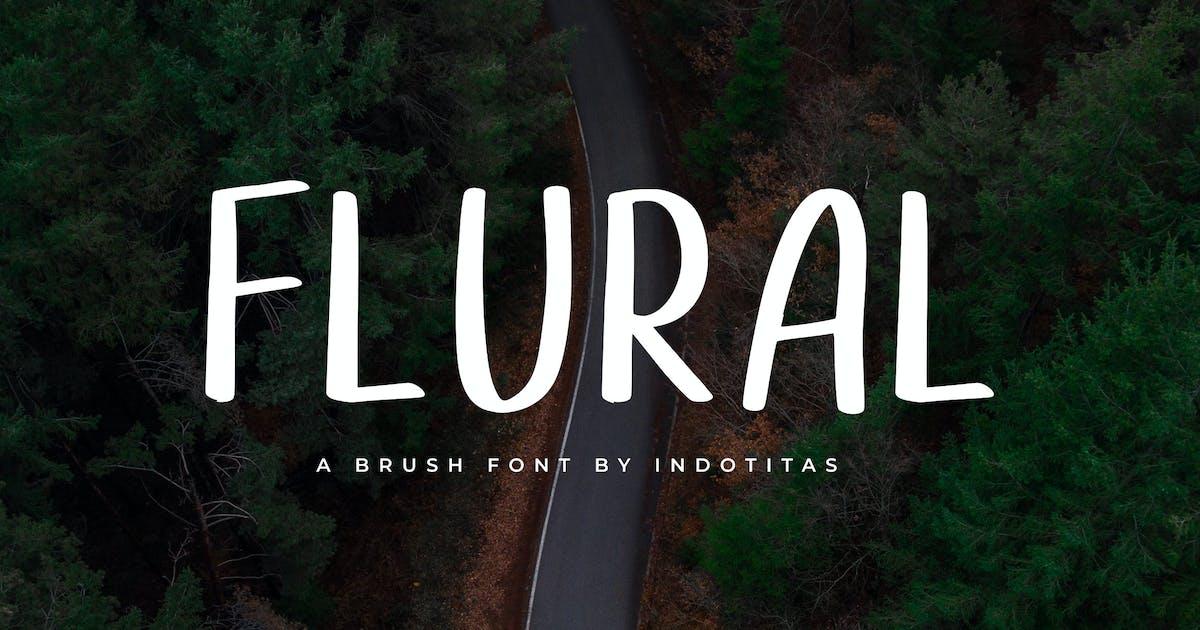 Download Flural - Brush Font by indotitas
