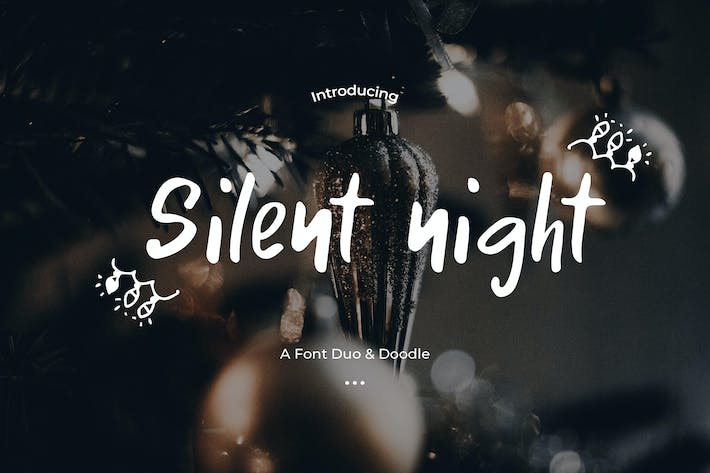 Thumbnail for Silent night - Font Duo & Doodle