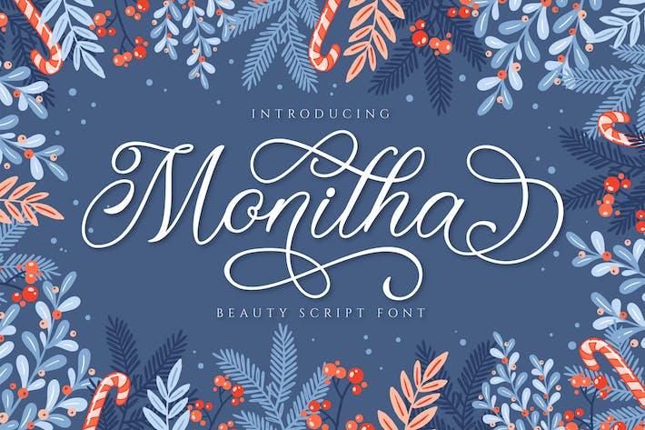 Fuente de secuencia de comandos Monitha Beautyful