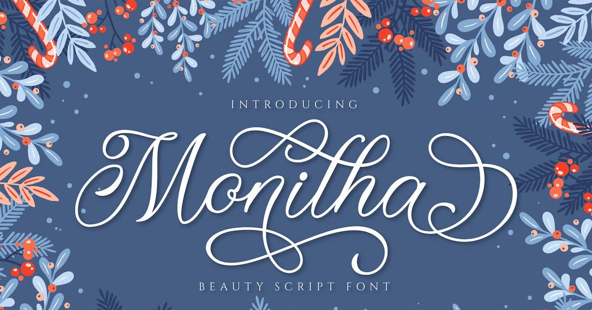 Download Monitha Beautyful script font by axelartstudio