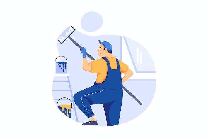 Thumbnail for Malerei - Handyman Service Illustrationskonzept