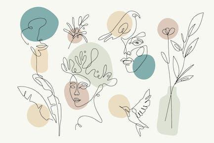 Line Art Doodles