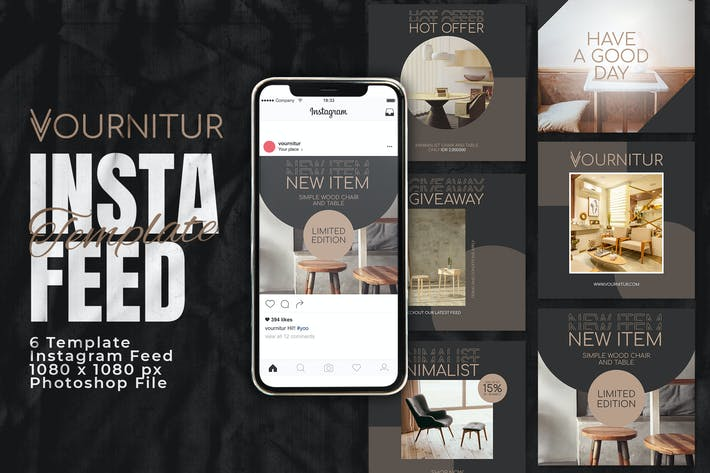 Thumbnail for Vourniture Instagram Feed Post Template
