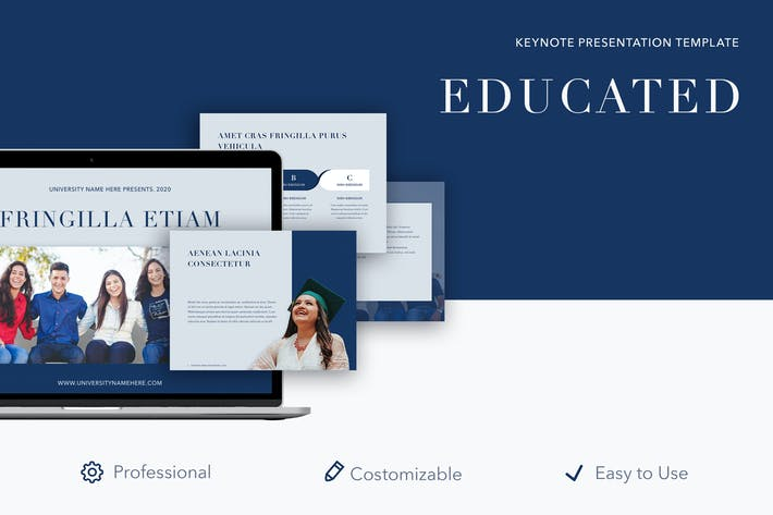 Cover Image For Educated Keynote Template
