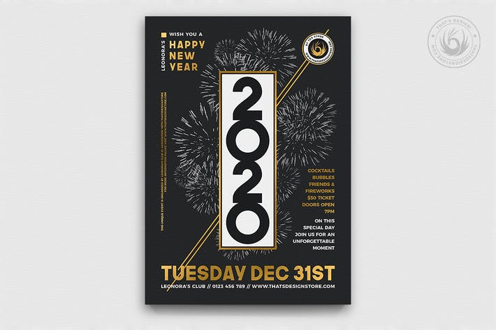 Thumbnail for New Year Flyer Template V7