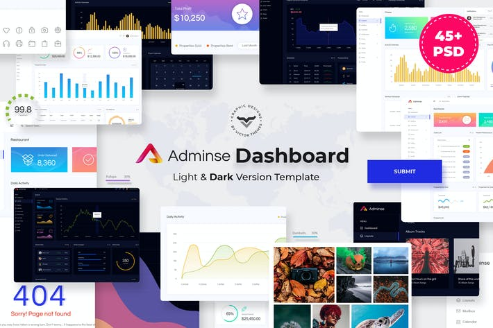 Thumbnail for Adminse - Dashboard for Admin PSD Template
