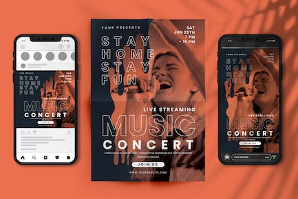 Streaming Music Concert ( Stay Home Stay Fun )