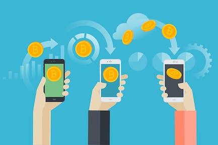 Mobile bitcoin wallet