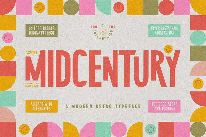 Thumbnail for MidCentury Typeface